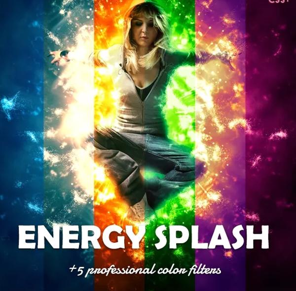 Energy Splash Photoshop Action