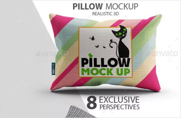 Fabric Pillow Mock-Up