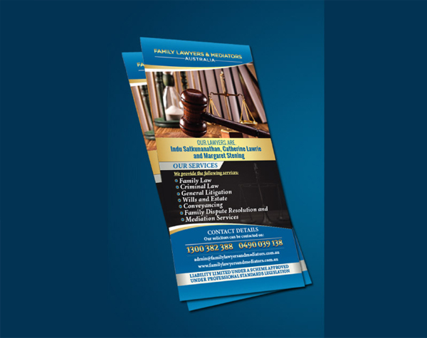 Family Lawyers and Mediators Flyer Template