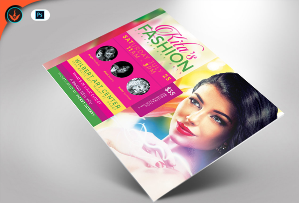 Fashion Conference Flyer Photoshop Template