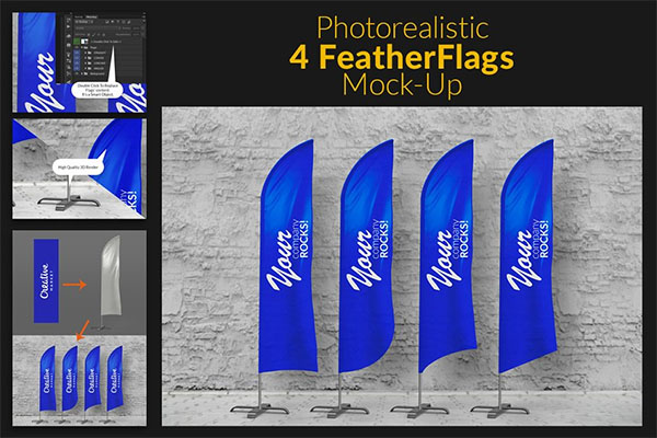 Feather Flags and Bow Flags MockUp