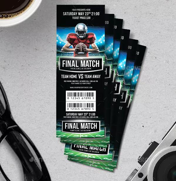 Final Football Match Ticket