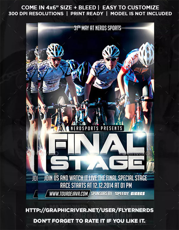 Final Stage Bicycle Sports Flyer