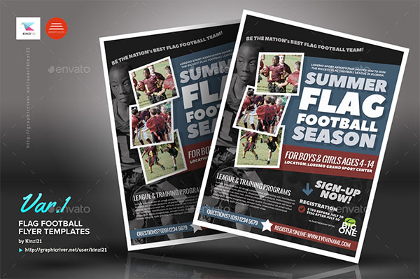 Flag Football Flyer PSD Templates
