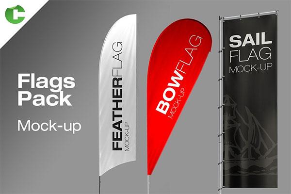 Flag Pack Mockup Design