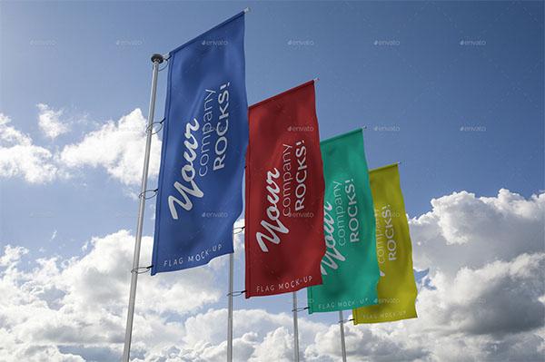 Flags MockUp PSD