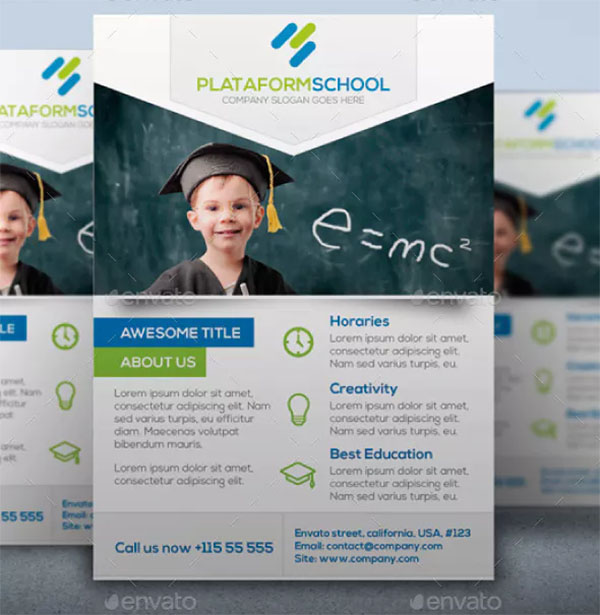 Flyer Plataformschool Template