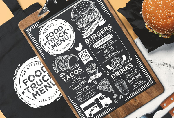 Food Truck Menu Brochure Template