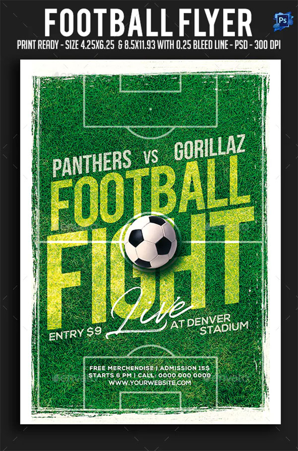 Football Event Flyer Template