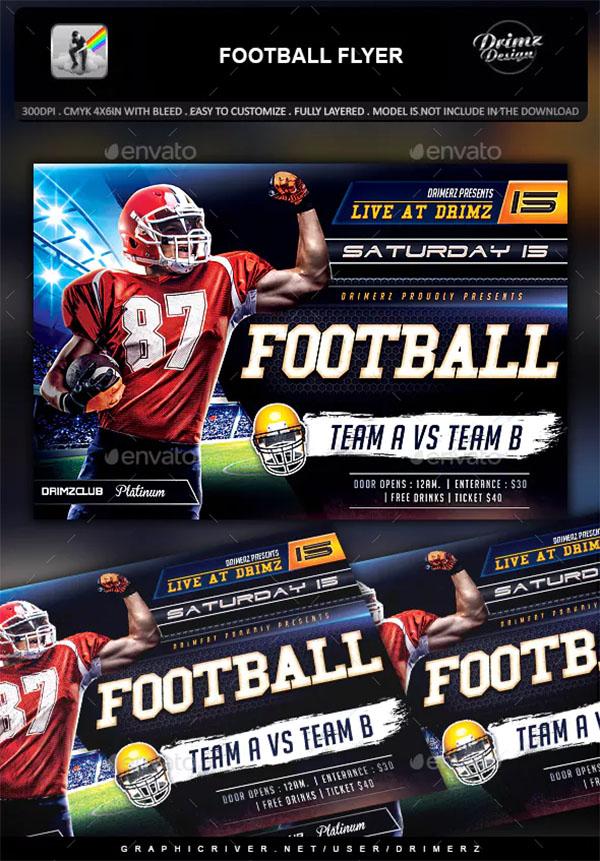 Football Flyer PSD Design