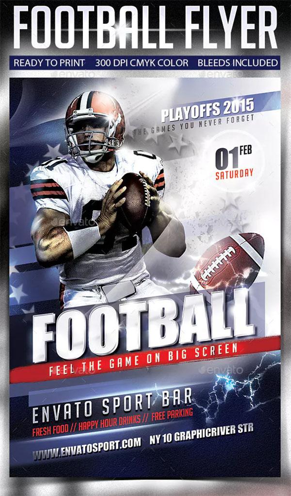 Football Flyer Template Design