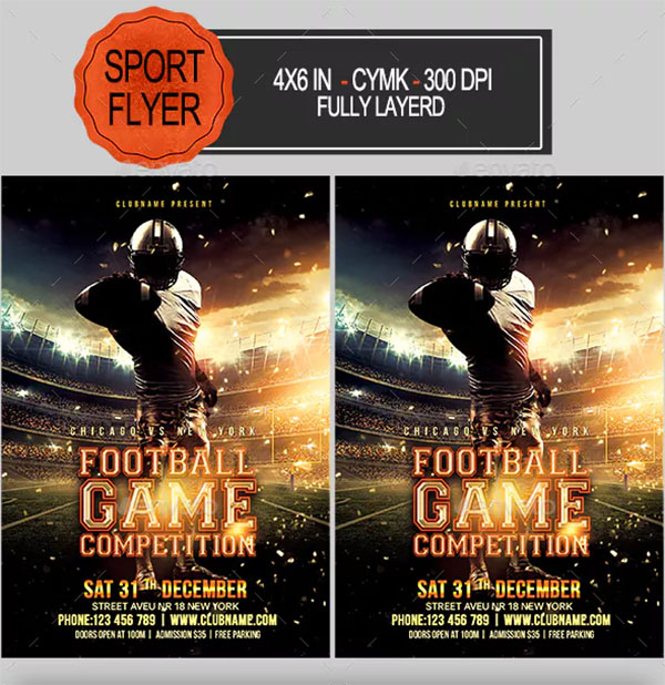 Football Game Competition Flyer