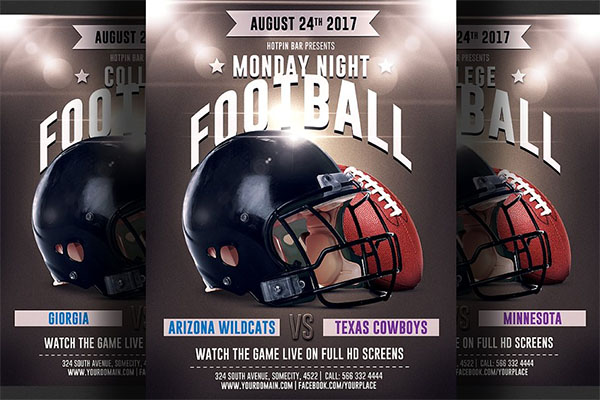 Football Game PSD Flyer Template