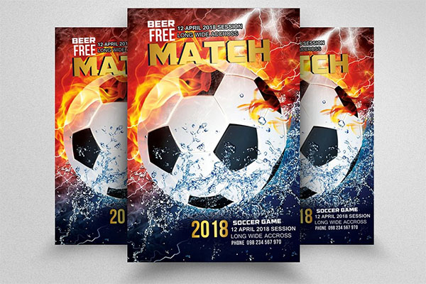 Football Match Competition Flyer Template