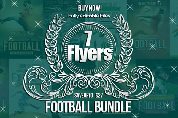 Football Match Flyer Bundle