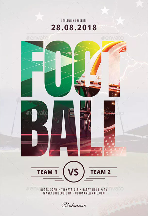 Football PSD Flyer Template