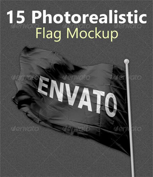 Football Photorealistic Flag Mockups