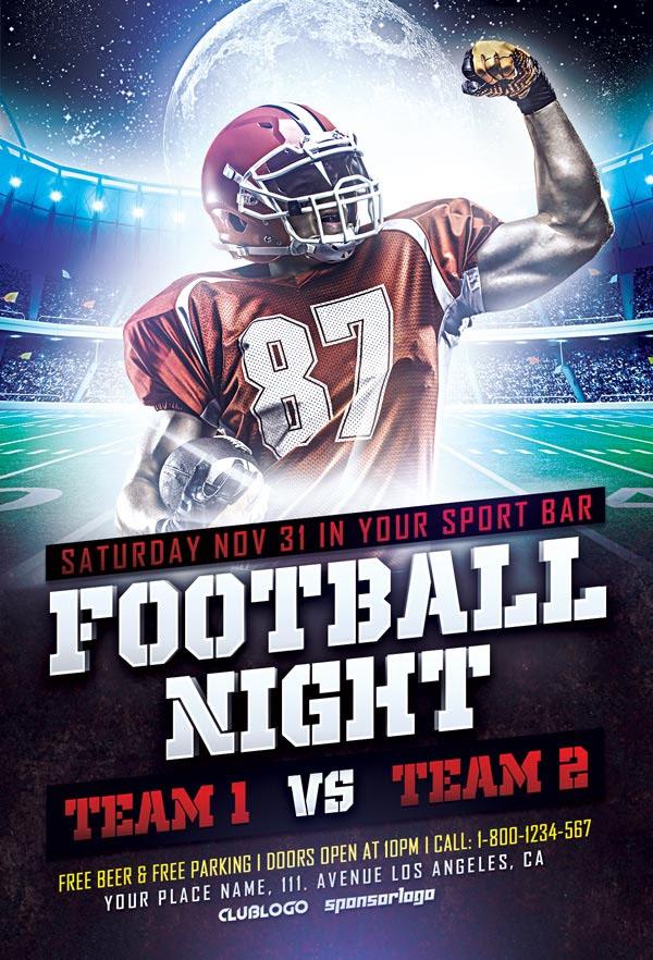 Football Sports Flyer Free PSD Template