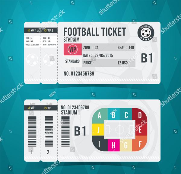 Football Ticket Card Modern Design