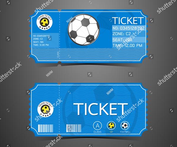 Football Ticket Card Retro Design