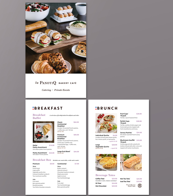 Free Bakery Cafe Catering Brochure