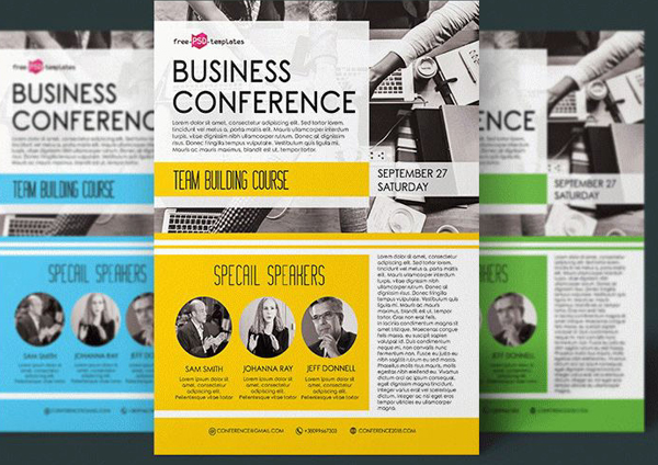Free Business Conference Flyer in PSD Template