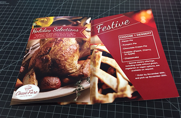 Free Classic Fare Catering Holiday Brochure