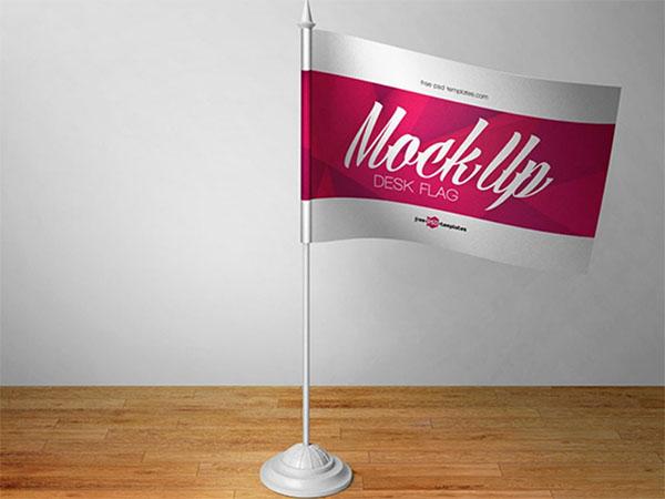 Free Flag Mockup PSD File Download
