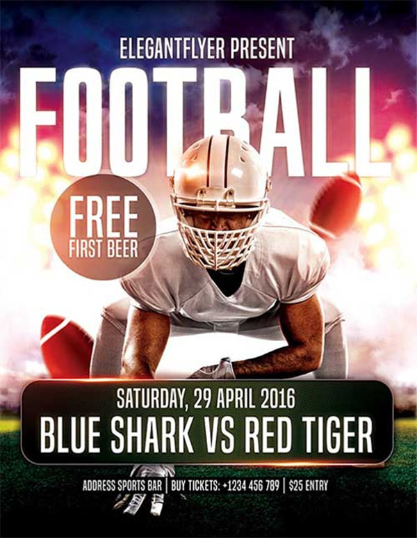 Free Football PSD Flyer Template