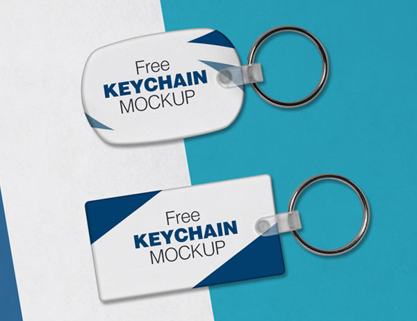 Free Keychain and Key Ring Mock-up PSD Files