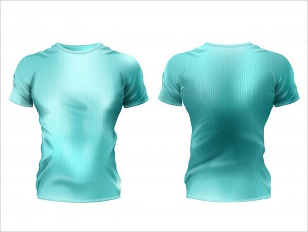 Free PSD 3d Realistic Male T-Shirt Mockup