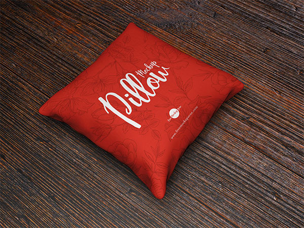 Free PSD Brand Square Pillow Mockup