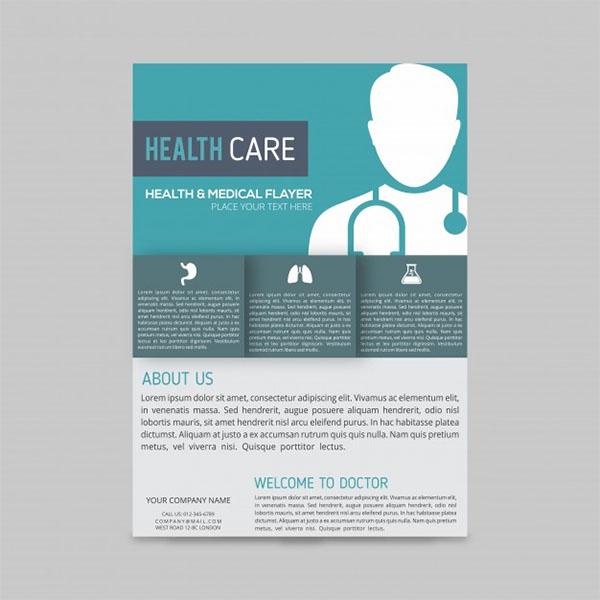 Free PSD Modern Medical Flyer Template