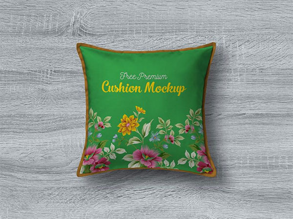 Free PSD Premium Pillow and Cushion Cover Mockup
