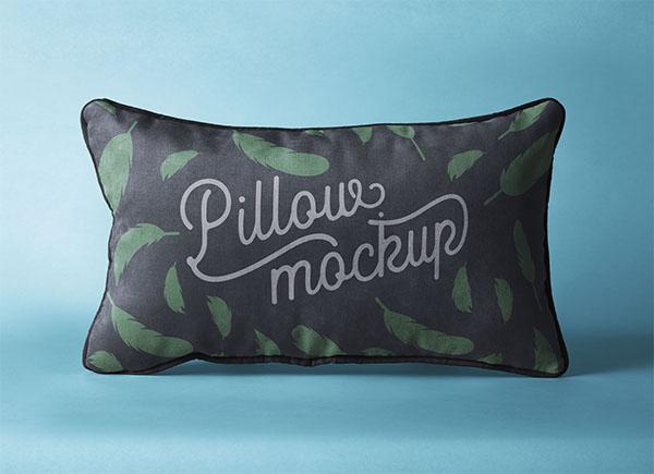 Free Rectangular Pillow Mockup PSD