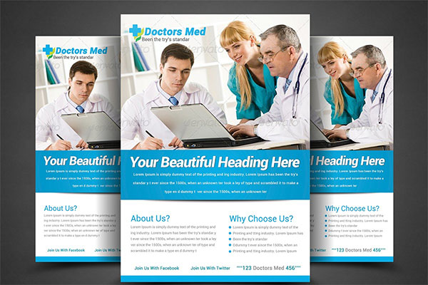 Health & Medical Doctors Flyer Template