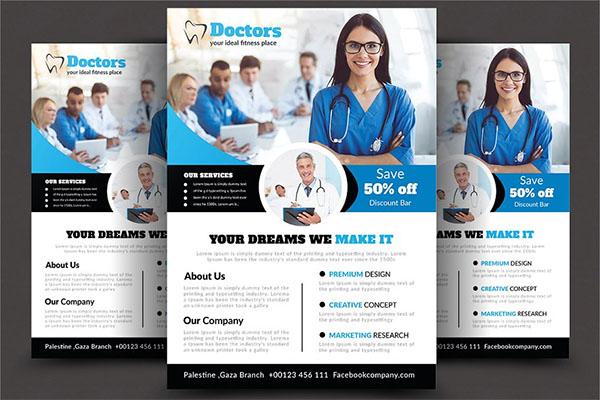 Health & Medical Doctors PSD Flyer