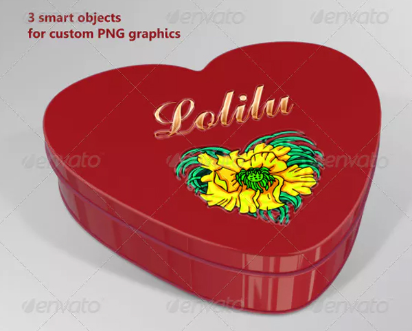 Heart Metal Box Mock-Up