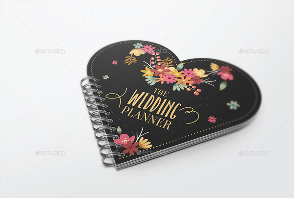 Heart Shape Notebook Mockups