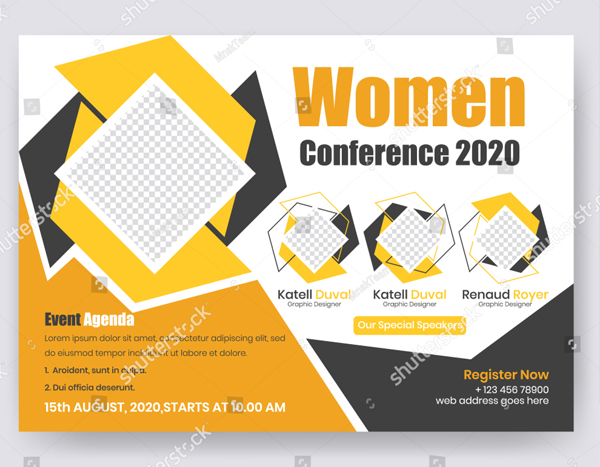 Horizontal Conference Flyer Design Template
