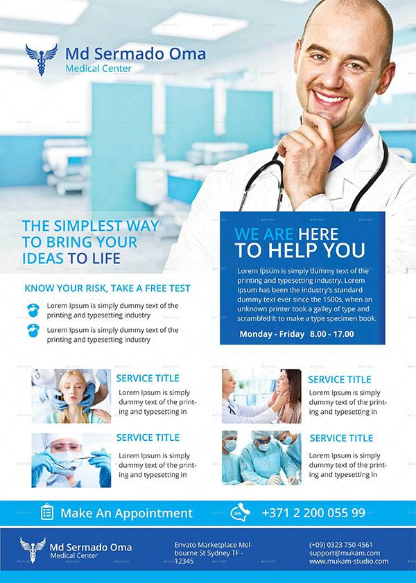 Hospital Medical PSD Flyer Design