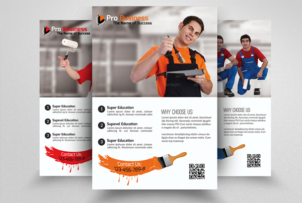 House Paint Conductor Flyer Template