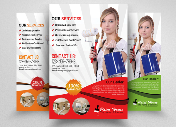 House Paint Service Flyer Template