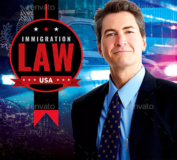 Immigration Law Flyer Template