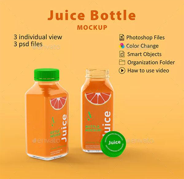 Juice Bottle Mockup Branding