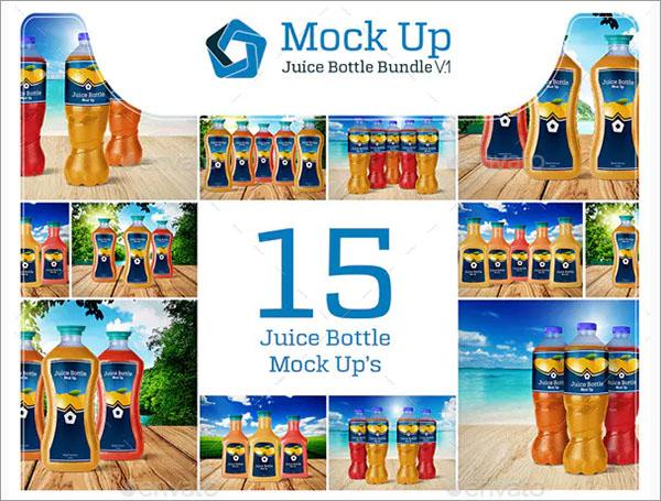 Juice Bottle Mockup Bundle