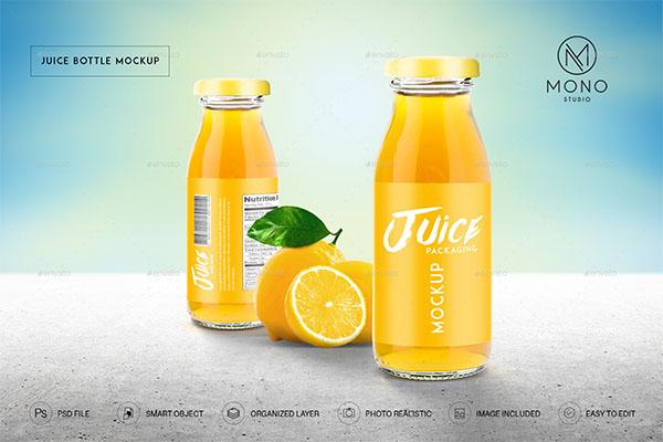 Juice Bottle Mockups