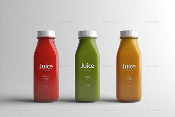 Juice Bottle Packaging PSD Mock-Up