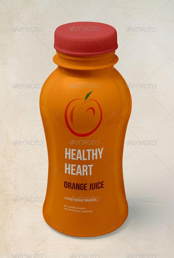 Juice Bottle Product Mock-Up