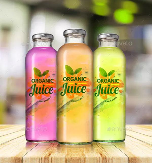 Juice Glass Bottle Mockups